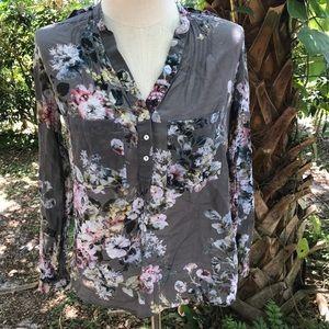3657306dd7e220 Women Gray Zara Sheer Top on Poshmark